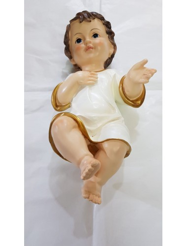 Gesù Bambino Vestito in resina CM 35