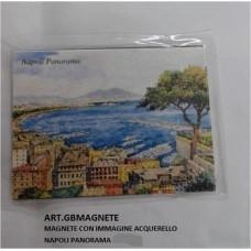 MAGNETE ACQUERELLATO PANORAMA NAPOLI