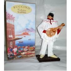 Pulcinella Terracotta  con Mandolino (CM 30)