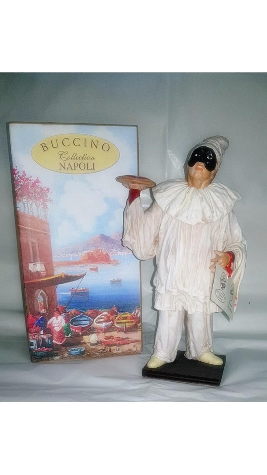 Pulcinella Terracotta Vestito con Pizza (CM 30)