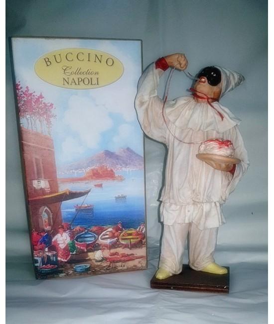 Pulcinella Terracotta Vestito con Spaghetti (CM 30)