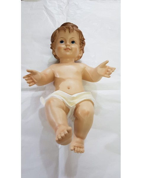 Gesù Bambino nudo in resina CM 34