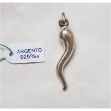 CORNO ARGENTO 925 H.2.5CM