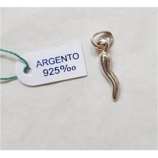 CORNO ARGENTO 925 H.2CM