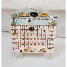 CALENDARIO PERPETUE IN CERAMICA SOGGETTO NAPOLI H18XL14