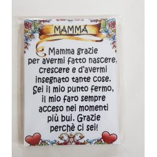 MAGNETE LEGNO DEDICATO ALLA MAMMA